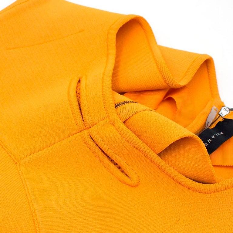 Roland Mouret Orange Bodycon Dress - Size US 4 For Sale 3