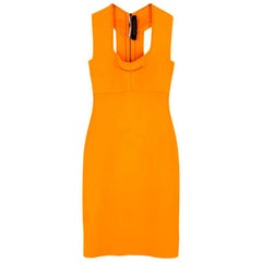 Roland Mouret Orange Bodycon Dress - Size US 4