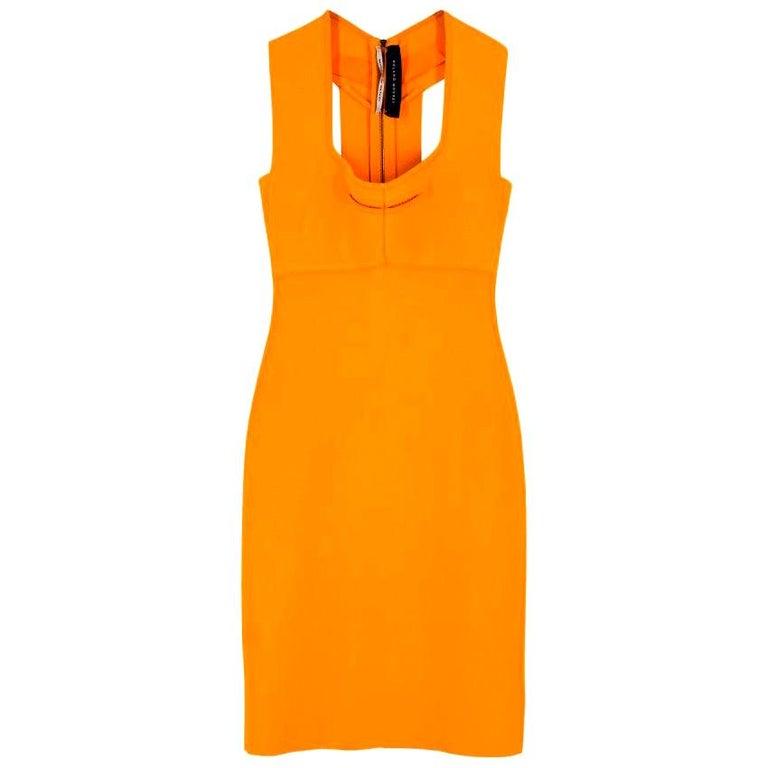 Roland Mouret Orange Bodycon Dress - Size US 4 For Sale