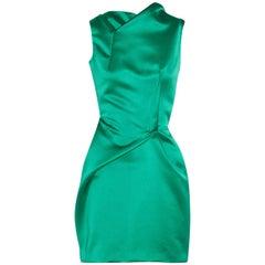 Roland Mouret Zonda Satin Mini Dress