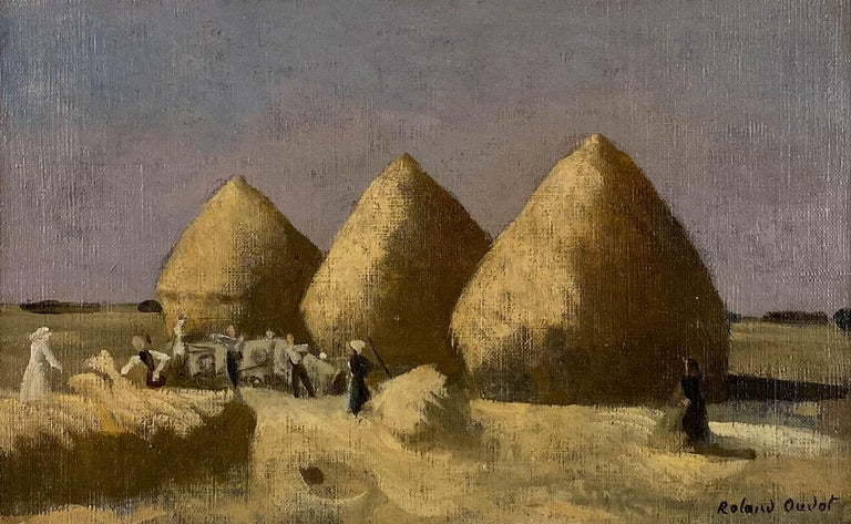 Haystacks - Painting by Roland Oudot