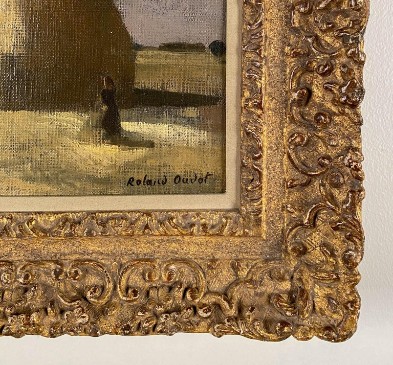 Haystacks - Post-Impressionist Painting by Roland Oudot