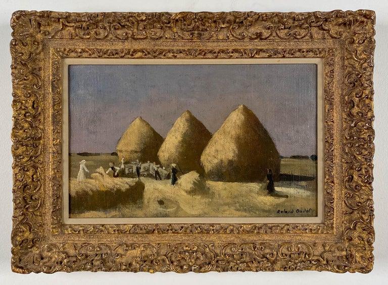 Roland Oudot Landscape Painting - Haystacks