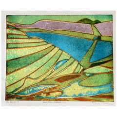 Roland Petersen Abstract Color Etching, Whiskeytown Pattern