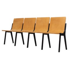 Roland Rainer 4 Seater Bench from a Dutch Church