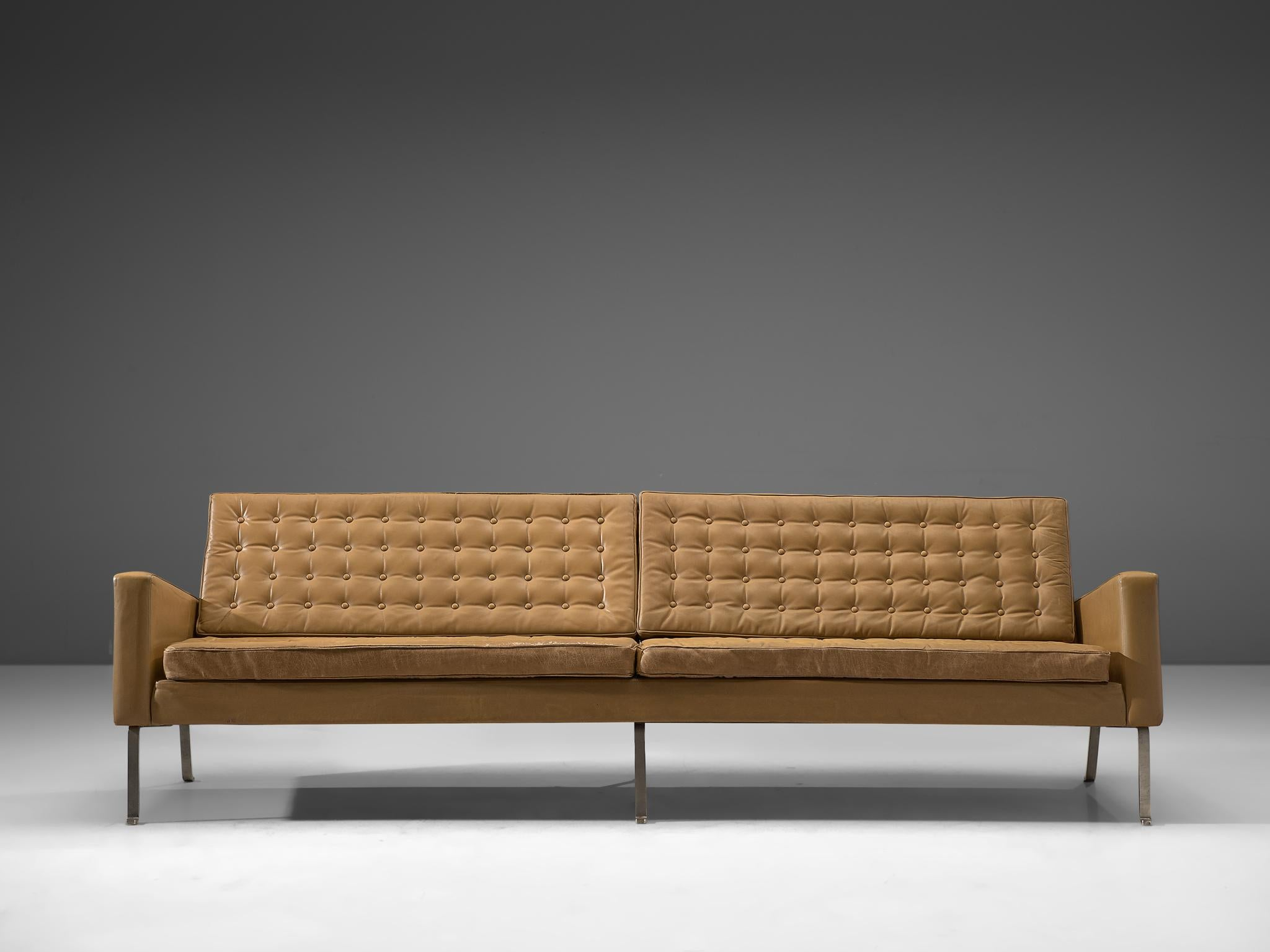 Stupendous Roland Rainer Large 4 Seat Sofa In Leather For Wilkhahn Germany 1960S Alphanode Cool Chair Designs And Ideas Alphanodeonline