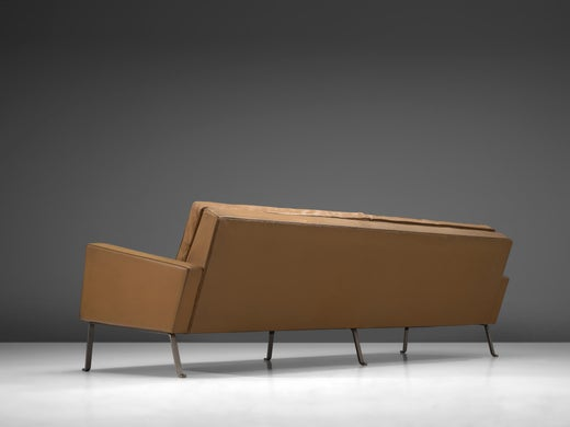 Tremendous Roland Rainer Large 4 Seat Sofa In Leather For Wilkhahn Germany 1960S Alphanode Cool Chair Designs And Ideas Alphanodeonline