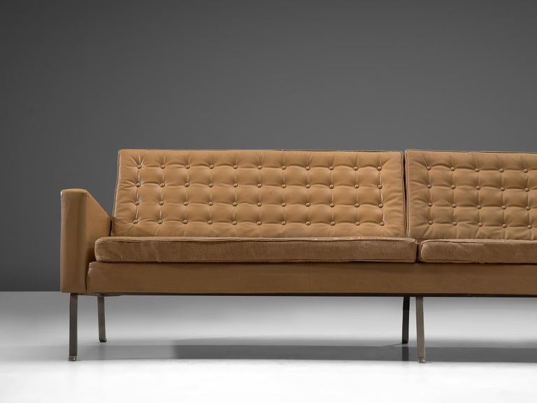 Cool Roland Rainer Large 4 Seat Sofa In Leather For Wilkhahn Germany 1960S Alphanode Cool Chair Designs And Ideas Alphanodeonline