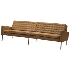 Roland Rainer Large 4-Seat Sofa in Leather for Wilkhahn, Germany, 1960s