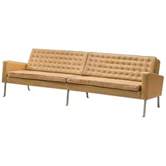 Roland Rainer Large Sofa in Leather for Wilkhahn