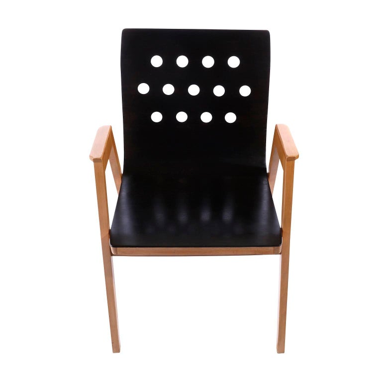 Mid-Century Modern Roland Rainer, Set of 12 Armchairs Stacking Chairs, 1951 For Sale