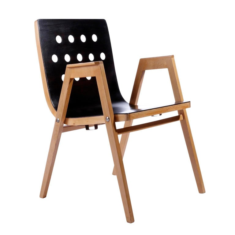 Austrian Roland Rainer, Set of 12 Armchairs Stacking Chairs, 1951 For Sale