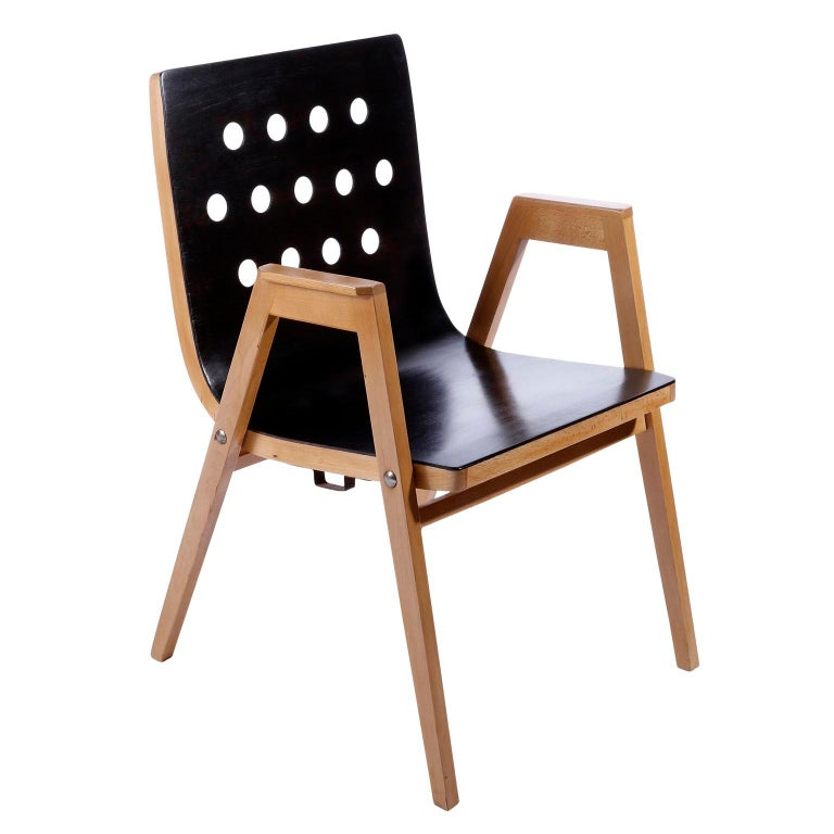 Mid-20th Century Roland Rainer, Set of 12 Armchairs Stacking Chairs, 1951 For Sale