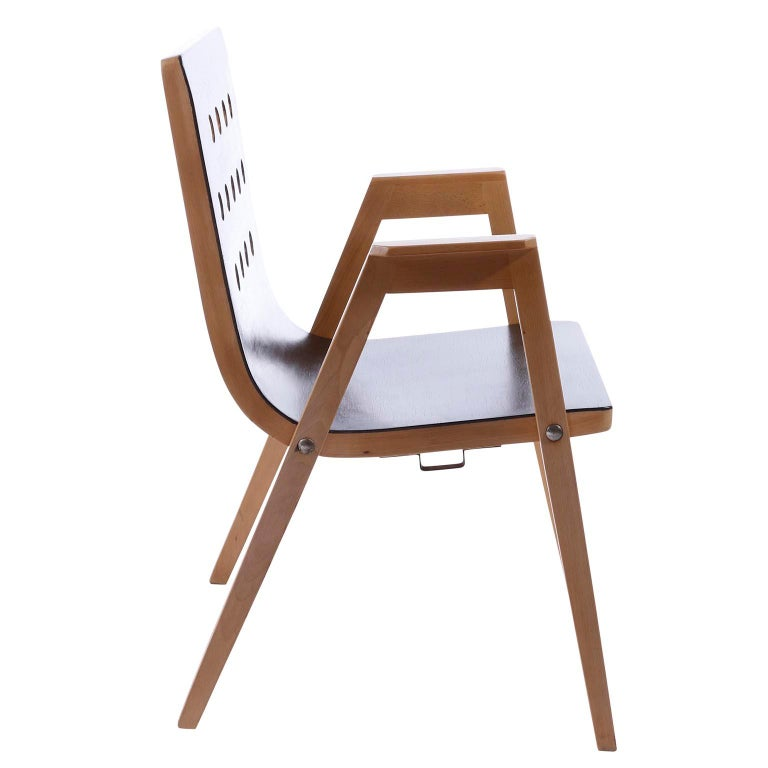 Wood Roland Rainer, Set of 12 Armchairs Stacking Chairs, 1951 For Sale