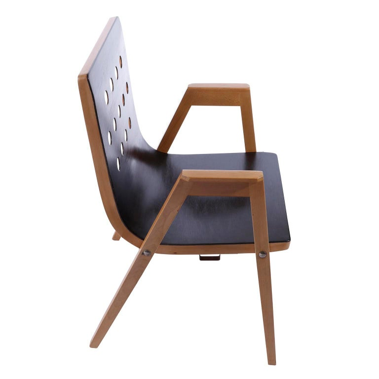 Roland Rainer, Set of 12 Armchairs Stacking Chairs, 1951 For Sale 1