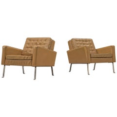 Roland Ranier Pair of Leather Easy Chairs