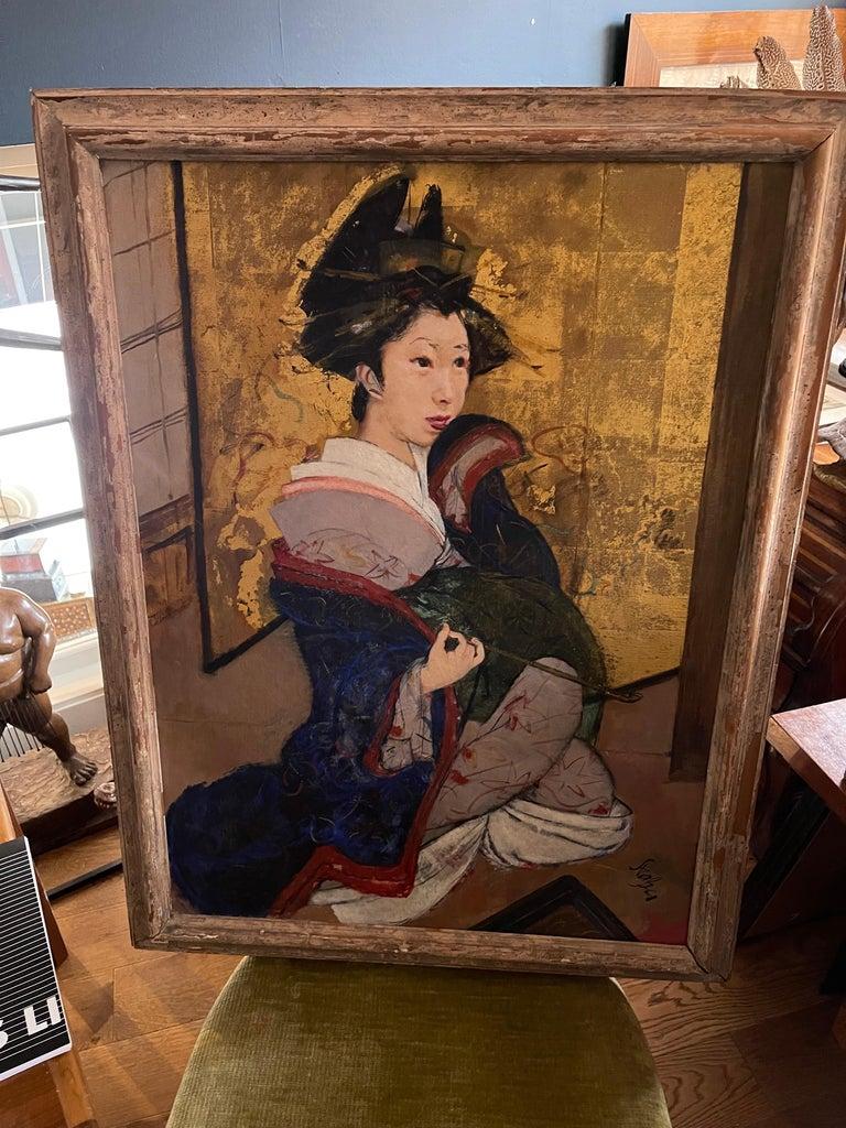 Portrait of a Geisha - Painting by Roland Strasser