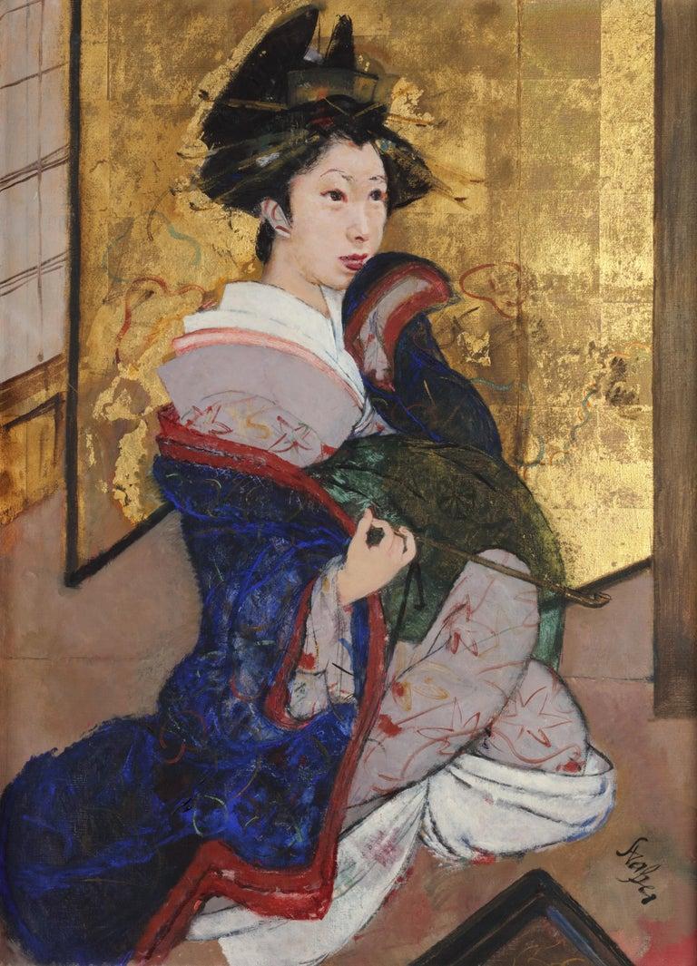 Roland Strasser Portrait Painting - Portrait of a Geisha