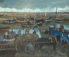 Boats and kelp collectors