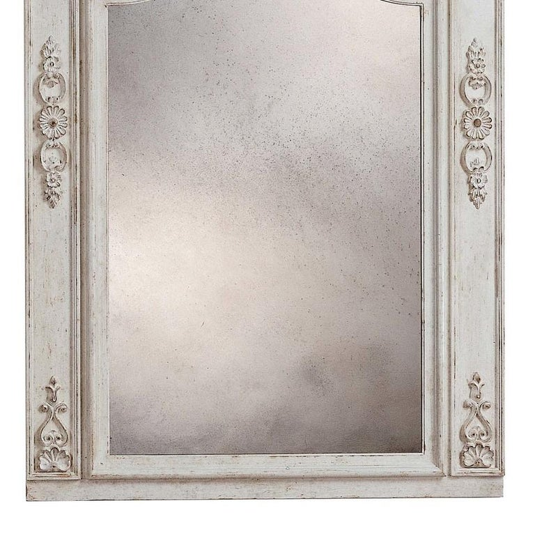 Italian Roland White Wall Mirror by Spini Firenze