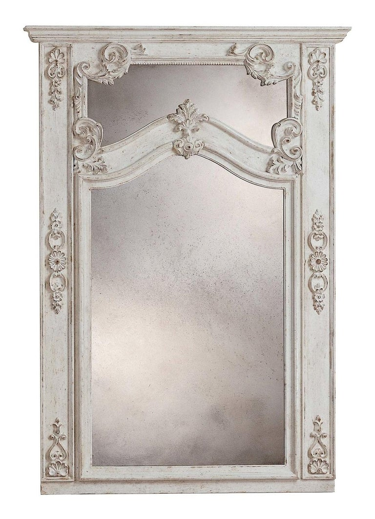 Roland White Wall Mirror by Spini Firenze In New Condition In Milan, IT