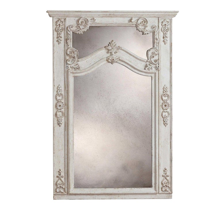 Roland White Wall Mirror by Spini Firenze
