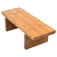 Roland Wilhelmsson Bench, Table in Solid Pine, Sweden, 1970s