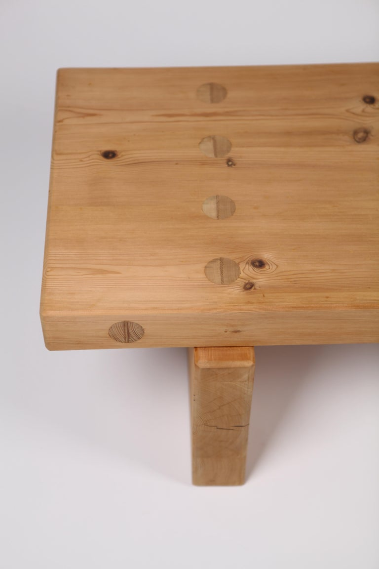Roland Wilhelmsson, Coffee Table in Pine by Karl Andersson & Söner, Sweden, 1970 For Sale 4
