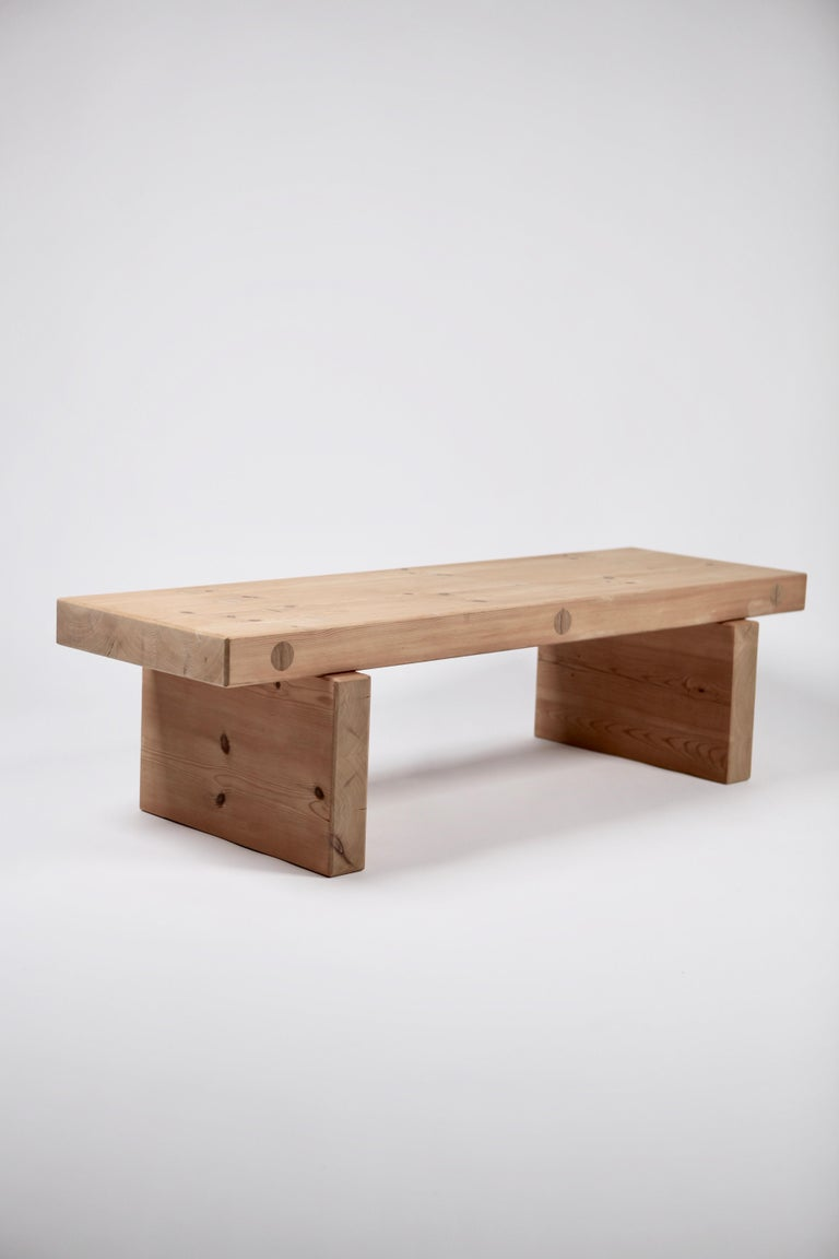 Roland Wilhelmsson, Coffee Table in Pine by Karl Andersson & Söner, Sweden, 1970 For Sale 1