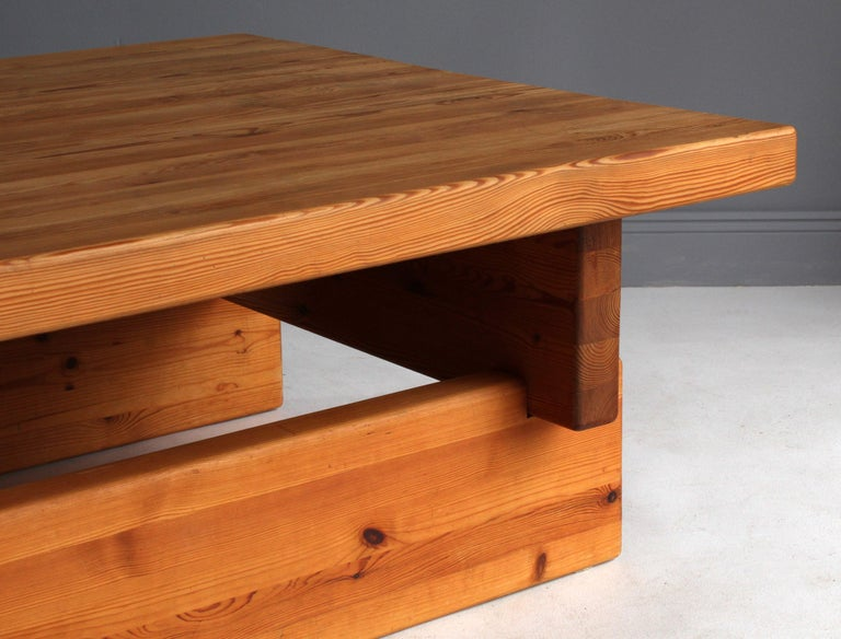 Swedish Roland Wilhelmsson (attributed) Coffee Table, Solid Pine, 1960s, Sweden For Sale