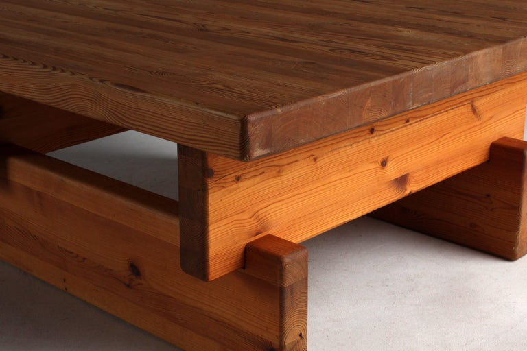 Roland Wilhelmsson (attributed) Coffee Table, Solid Pine, 1960s, Sweden For Sale 1