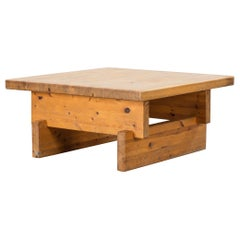 Roland Wilhelmsson(attributed), Modernist Coffee Table, Solid Pine, Sweden, 60s