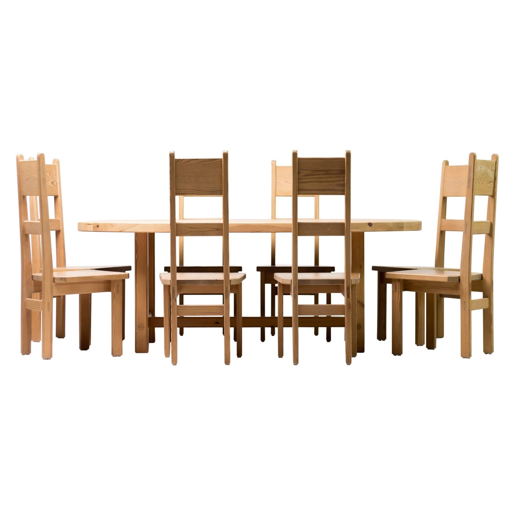 Roland Wilhelmsson Oregon Pine Dining Set