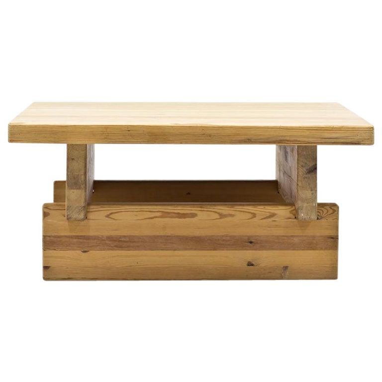 Roland Wilhelmsson Solid Pine Coffee Table, Sweden, 1970s For Sale