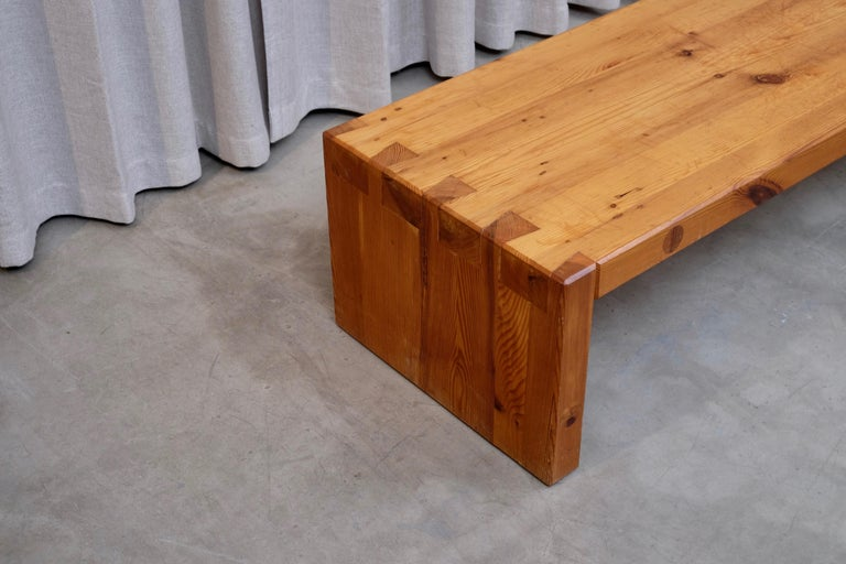 Scandinavian Modern Roland Wilhelmsson Table / Bench in Pine, Produced in Sweden, 1960s For Sale