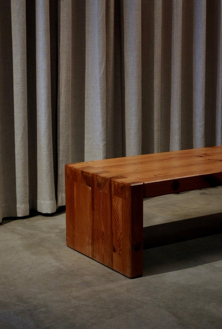 Roland Wilhelmsson Table / Bench in Pine, Produced in Sweden, 1960s For Sale 1