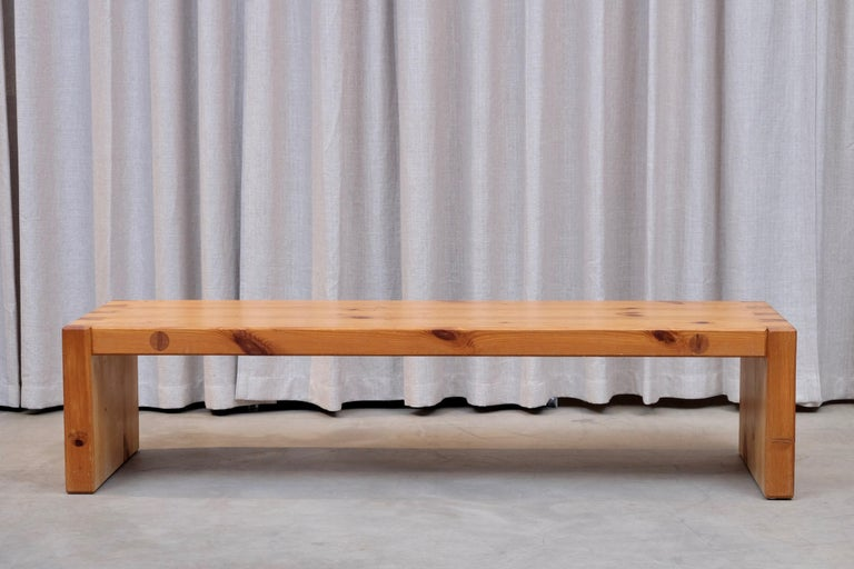 Roland Wilhelmsson Table / Bench in Pine, Produced in Sweden, 1960s For Sale 2