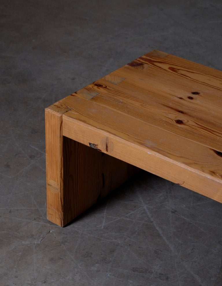 Roland Wilhelmsson Table / Bench in Pine, Produced in Sweden, 1973 For Sale 1