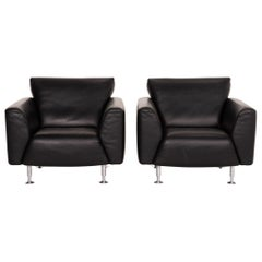 Rold Benz Leather Armchair Set of 2x Armchairs