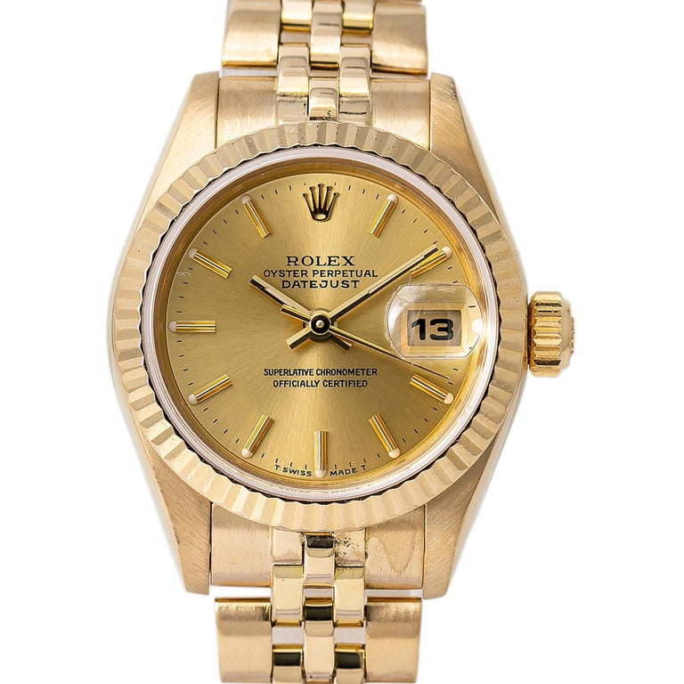 Roles Datejust 69178 Automatic WATCH 18K Yellow Gold Jubilee Champagne Dial 26mm