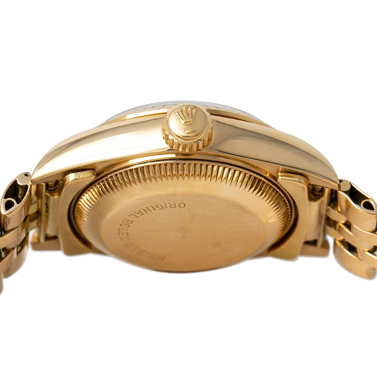 Women's Roles Datejust 69178 Automatic Watch 18K Yellow Gold Jubilee Champagne Dial For Sale