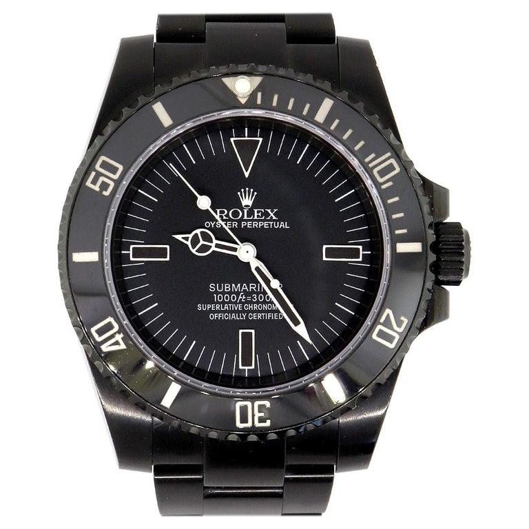 Rolex 114060 DLC Submariner No Date Watch For Sale