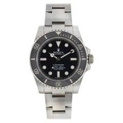 Rolex 114060 Submariner No Date Ceramic Bezel Automatic Watch