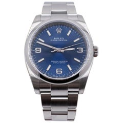 Rolex 116000 Oyster Perpetual 36 Blue Dial Stainless Steel Box Papers