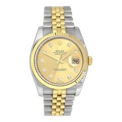 Rolex 116233 Datejust Diamond Dial Watch