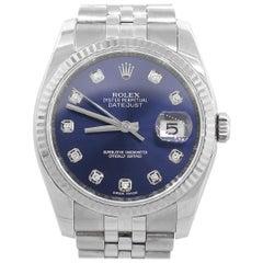 Rolex 116234 Datejust Blue Diamond Dial