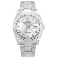 Rolex 116234 Datejust Stainless Steel Silver Dial Watch