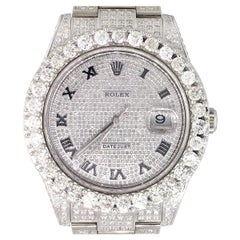 Rolex 116300 Datejust II Diamond Pave Roman Dial Wristwatch