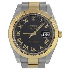 Rolex 116333 Datejust II Black Roman Dial Watch