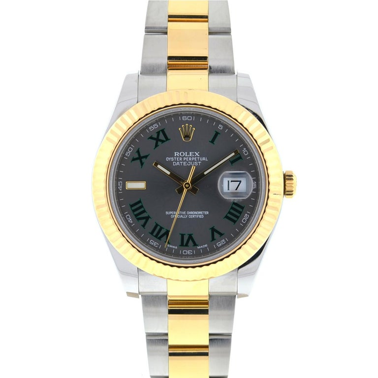 Company - Rolex Model - 116333 Datejust II Case Metal - Stainless Steel Case Measurement - 41mm Bracelet - Two Tone - Fits up to a 6 3/4